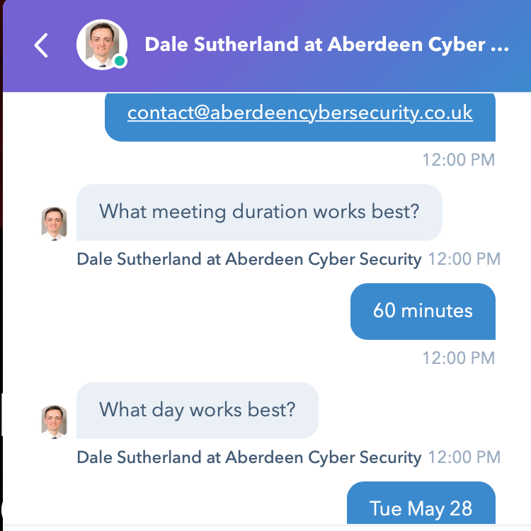 Aberdeen Cyber Security - Scheduling 2